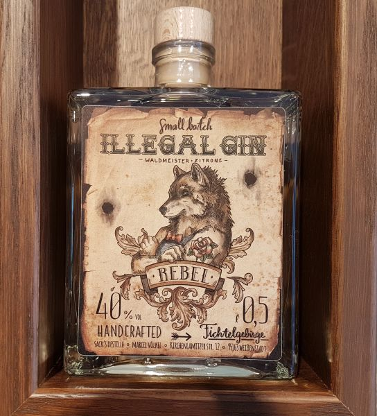 "Illegal Gin ""REBEL"" 40%"