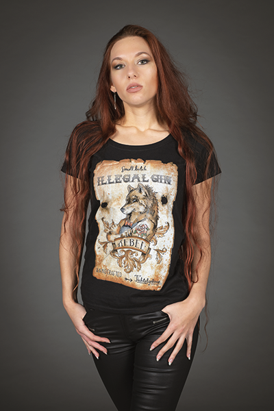 "Illegal Gin ""Rebel"" T-Shirt Damen"