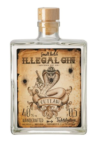 "Illegal Gin ""Outlaw"" 40%"
