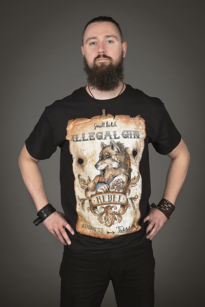 "Illegal Gin ""Rebel"" T-Shirt Herren"